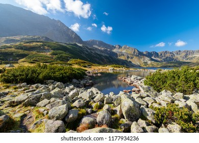 Mountain Lakes in the High Tatra in Five Polish Ponds Valley in the High Tatra