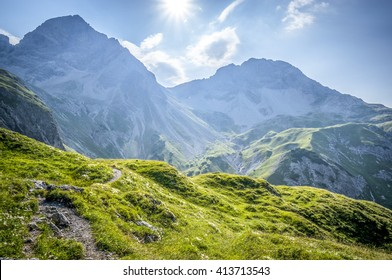 Mountain landscape of the Allgau Alps