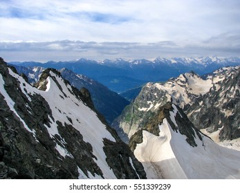 Mountain landscape in the area of Mount Elbrus. The gorge Adyr-Su, Russia