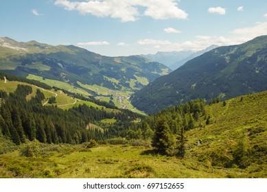 Mountain landscape. Beautiful landscape. Austrian Alps.