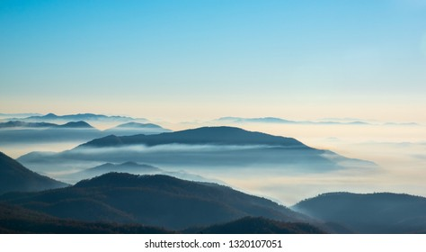 Mountain landscape with cloud sky
