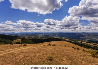 Mountain landscape with clouds on Golija mountain, Serbia