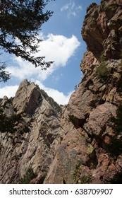 Mountain landscape Colorado hiking and climbing park