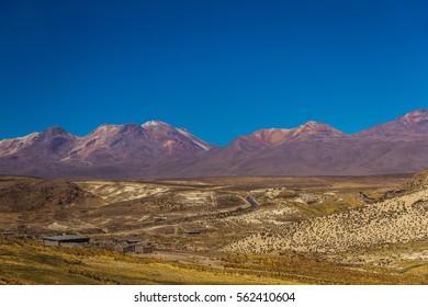 Mountain landscape. Desert.