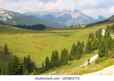 Mountain landscape of the Dolomites, Italy