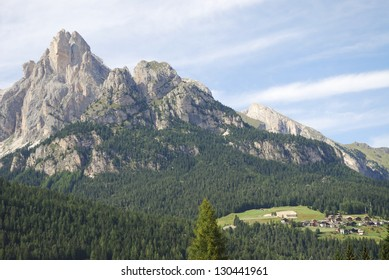 Mountain landscape in the dolomites (Italy)