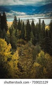 Mountain Landscape During The Fall Season