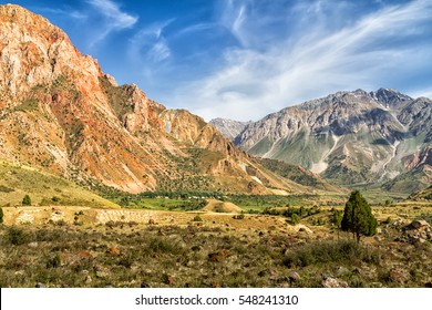 Mountain Landscape of Fan Mountains in summer, Tajikistan, Central Asia