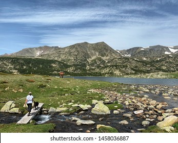 Mountain landscape at the french Pyrenees Europe