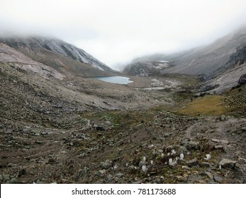 Mountain landscape high up in Colombian Andes in El Cocuy National Park