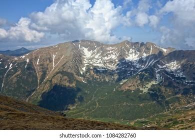 Mountain landscape High Tatras National Park, Ziarska valley , Slovakia,Europe.