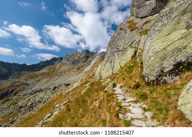 Mountain landscape in High Tatras in Poland