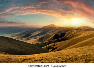 Mountain landscape in Kazakhstan near Almaty city