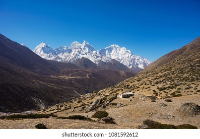 Mountain Landscape at Khumbu Himalayan, Nepal. Everest Base Camp Trail.