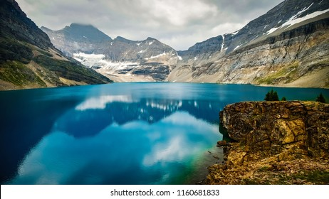 Mountain landscape of Lake McArthur, Yoho National Park, British Columbia, Canada
