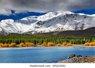 Mountain landscape, Lake Tekapo, New Zealand