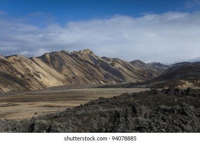 Mountain landscape , Landmannalaugar,Iceland
