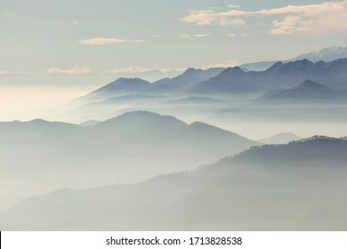 Mountain Landscape From Mottarone Mount, Italy
