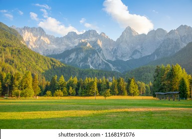 Mountain landscape next to Kranjska Gora in Slovenia - Shutterstock ID 1168191076