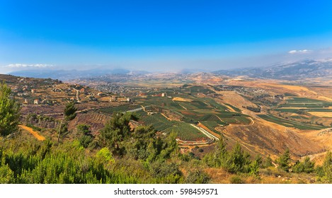 Mountain landscape in the North of Israel. Summer .