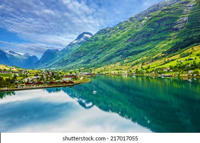 Mountain landscape, Olden, Norway