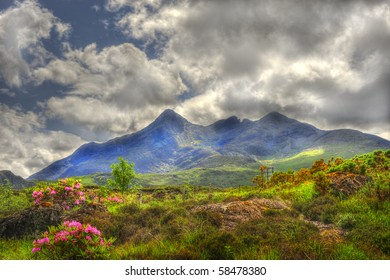 Mountain landscape on the Isle of Skye Scotland