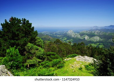 Mountain landscape in the Picos de Europa national park, Spain, Asturias