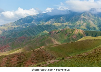 The mountain landscape of plateau of Assy is Kazakhstan