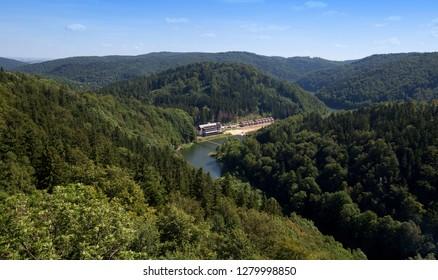 mountain landscape, Zagórze Śląskie, Poland