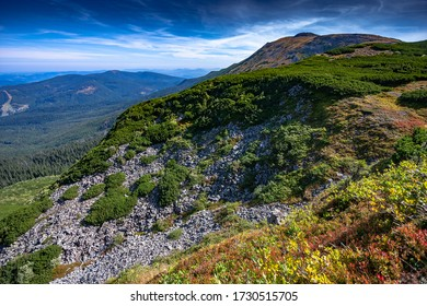 Mountain landscape in Poland - trip to Babia Góra