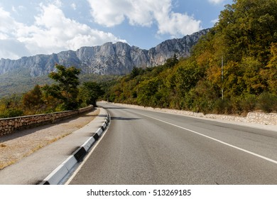 Mountain landscape with road autumn