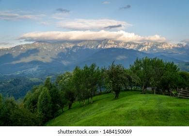 Mountain landscape in rural countryside