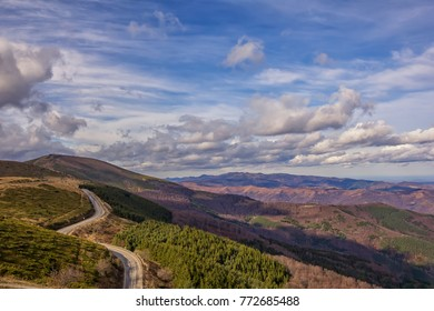 Mountain landscape. Scenic view of a mountain and mountain road from beklemeto , Bulgaria