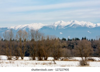 Mountain landscape in Slovakia in Winter time