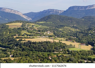 Mountain landscape in the south of Vercors range in French Alps