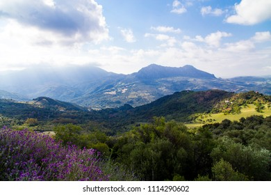 Mountain landscape in southern Spain, Andalusia