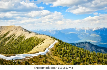 Mountain Landscape in spring along the Pedley Pass hike near Invermere British Columbia, Canada