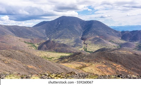 Mountain landscape in the summer in the Magadan region