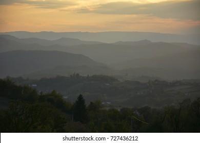 mountain landscape sunset