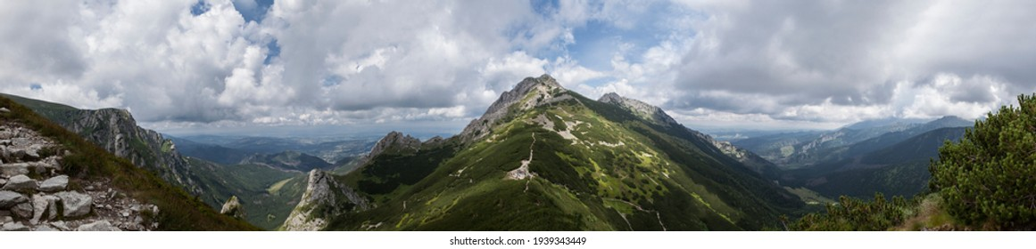 Mountain landscape in the Tatra Mountains on the border between Poland and Slovakia