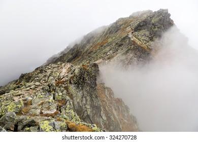 Mountain landscape in the Tatra mountain range