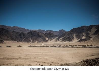 Mountain Landscape view in Leh, Ladakh, India.