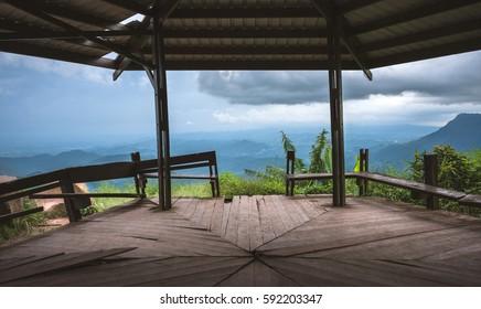 mountain landscape view point at Phu Tubberk in Phetchabun thailand.