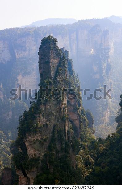 Mountain landscape of Zhangjiajie, a national park in China