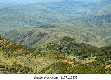 The mountain landscapes of Elephant Hill, Aberdare Ranges, Kenya