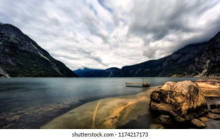 Mountain landscapes of Norway, Eidfjord.