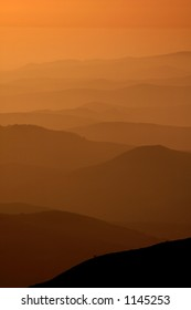 Mountain Layers in Silhouette