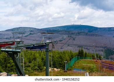 Berglift in Deutschland beim Sommerwandern