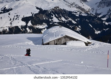 Mountain lodge in Oberland, swiss Alps