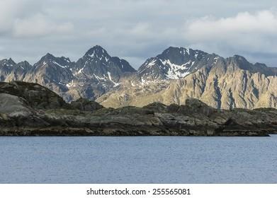 mountain in Svolv�¦r, Lofoten, Norway